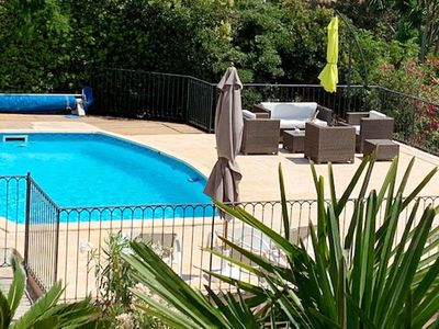 Photo for Provencal villa with sea view, swimming pool with water- heatpump.