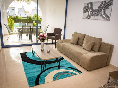 Photo for SAVVAS APARTMENT WITH SWIMMING POOL AND GARDEN