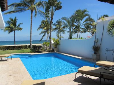 Photo for Amazing 2BR beachfront villa with private pool and incredible Banderas Bay views!