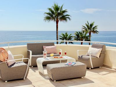 Photo for First line beach. Exclusive urbanization. Large terrace with front sea views.
