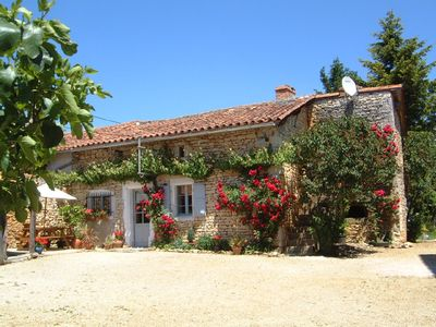 Photo for Pretty Charantais cottage. WIFI. With private pool & garden, tranquil  location
