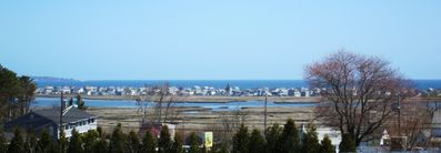 Beautiful view of Wells beach from deck and Living Room.