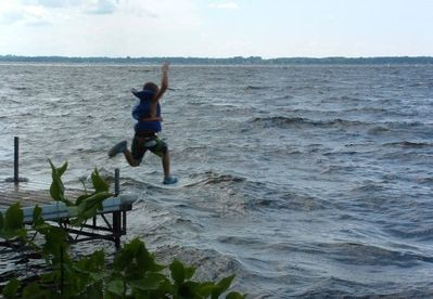 Jump right in and cool off in the crystal clear waters of Sturgeon Lake!