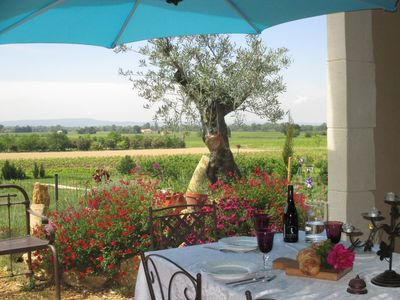 Photo for Provencal farmhouse with stunning views
