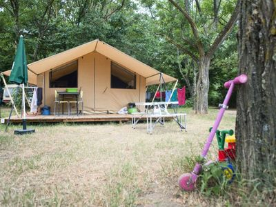 Photo for Camping Huttopia Vallouise *** - Tent Wood & Canvas 3 Rooms 4 People