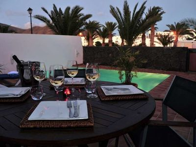 Photo for Villa KIRIAKI in Playa Blanca for 6 persons with pool, terrace, garden, WIFI on the go and less than 1000m to the sea