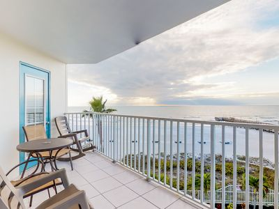 Photo for NEW LISTING! Sunny, beachfront condo w/shared pool, access to beach/attractions