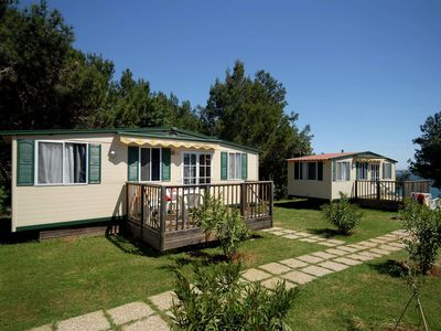 Photo for Carefully furnished chalet with terrace, 12 km. from Pula