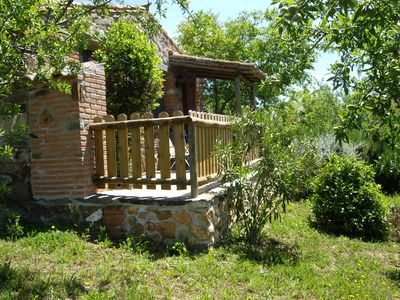 Photo for -Study Stone cottage for 2 people, overlooking the Sierra