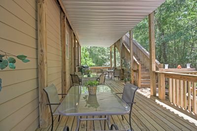 Sip on your favorite cocktails and host barbecue parties on the two-story deck.