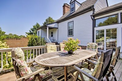The 4-bedroom, 3.5-bathroom house features a furnished deck and more!