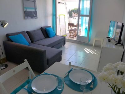 Photo for One bedroom Apartment, sleeps 4 in La Grande-Motte with Air Con