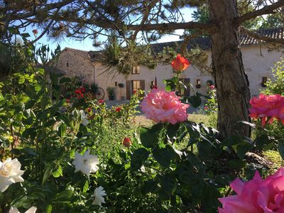 Photo for Pretty gites in beautiful countryside with pool and extensive private garden