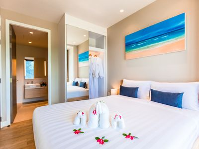 Photo for Superb Grand Two Bedroom Suite in Bang Tao Beach Free Shuttle to Boat Avenue.