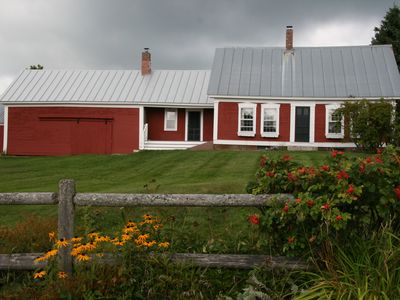 Photo for 1840s Farmhouse On 90 AC. With Beautiful Grounds, Mountain Views, Sauna