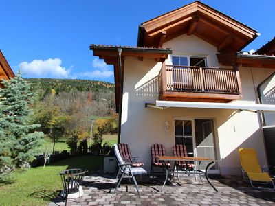 Photo for Lovely semi-detached chalet with a swimming pool, sauna and carport