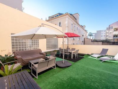 Photo for Amazing 4 pax flat with terrasse Antibes street