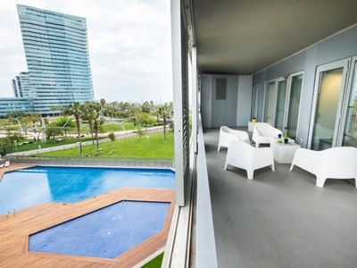 Photo for Spacious Mar Breeze apartment in Diagonal Mar with WiFi, air conditioning, private terrace & lift.