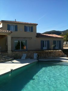 Photo for At the foot of Mont Ventoux spacious house large heated pool and pretty garden