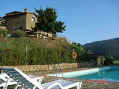 Photo for Lovely apartment with pool, WIFI, TV, patio, panoramic view and parking, close to Greve In Chianti