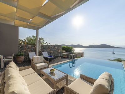 Photo for Villa Elena, only 50m from the sea, amazing sea views of Elounda Bay