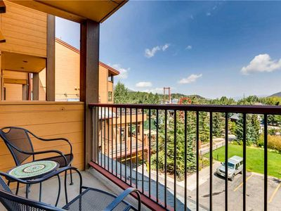 Photo for Quaint studio with private balcony overlooking town, biking trails close by