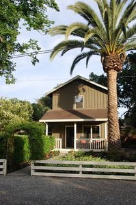 Photo for Charming Farmhouse in Historic Old Town Yountville -Stroll to Restaurants, Shops