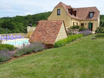 Photo for Domme Black Perigord Villa 10 per. WIFI heated pool linen housekeeping included