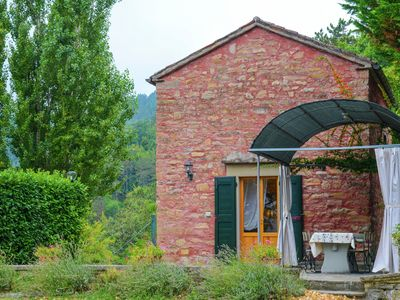 Photo for Mini-apartment in a former chapel, with a swimming pool and panoramic view