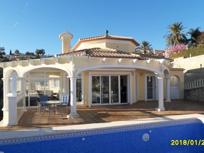 Photo for Luxury villa with super view of Dénia u. Sea; gr. container Pool, wifi