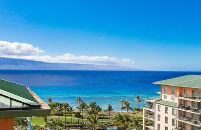Photo for Maui Resort Rentals: Honua Kai - 4 Total Bedrooms, Full 9th Floor Ocean + West Maui Mountain Views