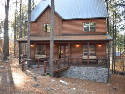Photo for Cowboy Castle - New 4 Masters (Sleeps 10, Games, Outdoor Area, Great Location)