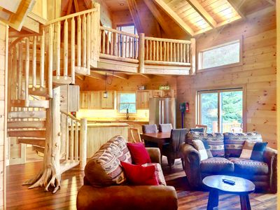 OR Luxury 'yurt-like' home in Bretton Woods with private beach,  firepit, AC,  fishing and trails!