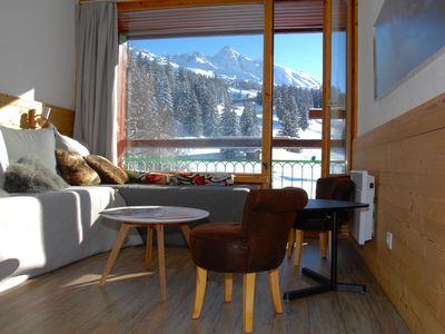 Photo for RENOVATED STUDIO SOUTH VIEW superb start SKI foot Lauzières 4/5 pers