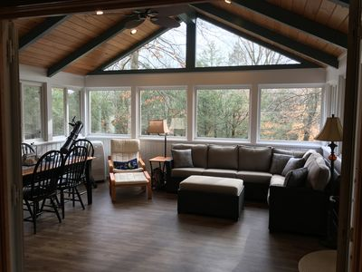Gorgeous sunroom, great for reading your favorite book or bird watching