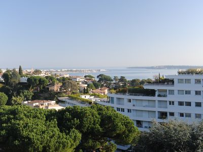 Photo for Cannes, 3 room apartment with sea view in a park with swimming pool and tennis