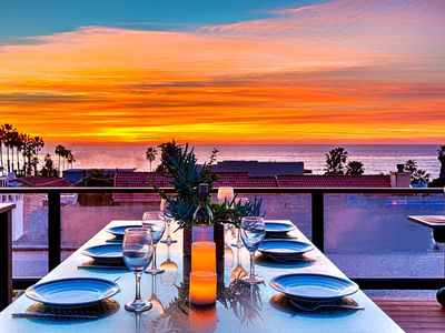 Photo for Roof Top Deck, Ocean Views, Hot Tub, Outdoor TV, Steps to Beach