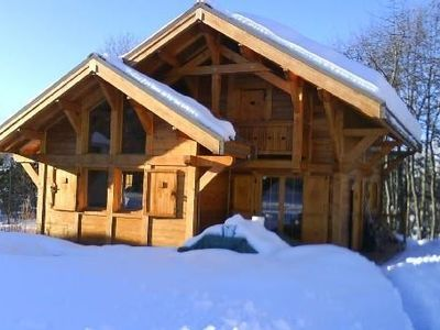 Photo for NICE CHALET megévois while larch, SWIMMING POOL, bordering FOREST