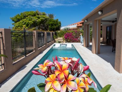 Photo for Just listed! Luxury Villa with private pool, Ocean view in Noord, walk to beach