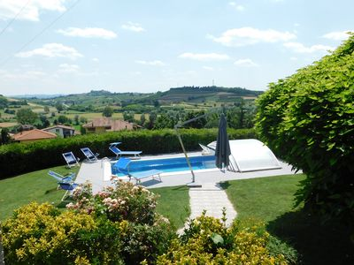 Photo for The Blue House, Villa with private pool in the Monferrato Langhe, Unesco World Heritage