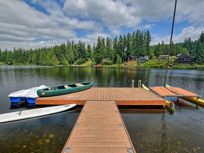 Photo for Large Lakefront apartment with huge dock, hot tub, and three boats.