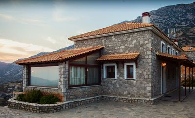 Photo for Spacious stone built home with spectacular mountain view v