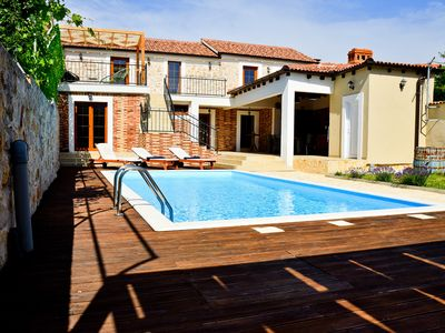 Photo for Stone 4* villa Anita with pool for 12 guests, Zadar county