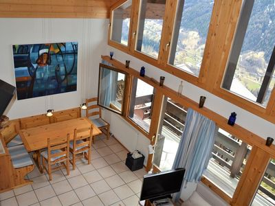 Photo for Outside : 4 rooms apartment with south balcony, for 5 people -Inside : approx. ? sqm, living with fi
