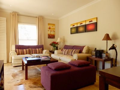 Photo for Luxury ground floor apartment with outdoor pool in Franschhoek