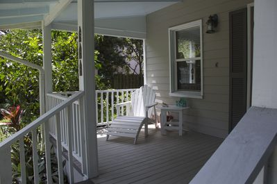 The front porch is cool and quiet in the mornings.