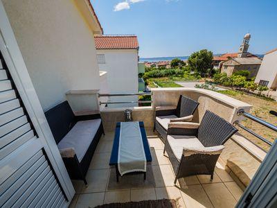 Photo for A3 modern luxury apt with balcony, sea view, parking and outside fireplace