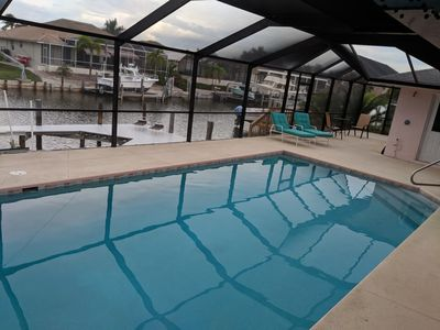Photo for Avl Aug 18&on Jan/Feb2020 Htd Pool  kayak & bikes, 10 min walk 2 beach, on canal