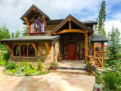 Photo for Enjoy beautiful mountain views & privacy from this elegant Highlands Chalet