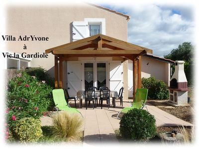 Photo for Villa AdrYvone (2 stars), air-conditioned, wifi 3km from the sea
